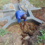 The Water Project: Mahira Community, Mukalama Spring -  Backfilling With Clay