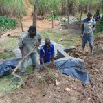 The Water Project: Mahira Community, Mukalama Spring -  Backfilling With Soil