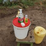 The Water Project: Mahira Community, Mukalama Spring -  A Handwashing Point With Soap And Water