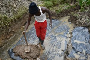 The Water Project:  Laying Sping Foundation