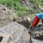 The Water Project: Mukhungula Community, Mulongo Spring -  Rub Wall Plastering