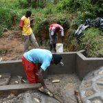 The Water Project: Mukhungula Community, Mulongo Spring -  Plastering