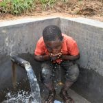 The Water Project: Mukhungula Community, Mulongo Spring -  A Taste Of Clean Water