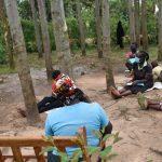 The Water Project: Mukhungula Community, Mulongo Spring -  Training On Proper Mask Wearing
