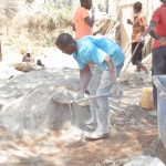 The Water Project: King'ethesyoni Community A -  Mixing Dirt And Cement