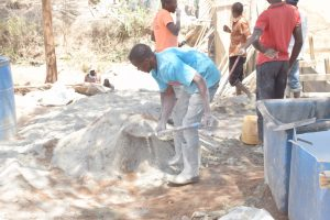 The Water Project:  Mixing Dirt And Cement