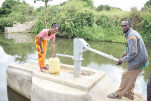 The Water Project:  Sylvester Nzangu And Florence Munyau At The Water Point