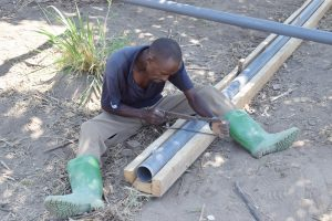 The Water Project:  Working On Infiltration Pipes