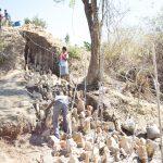 The Water Project: Yumbani Community -  Foundation Of Dam Walls