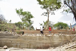 The Water Project:  Scaffolding Holds Walls In Place