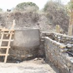 The Water Project: Yumbani Community A -  Cement Drying On Well Walls