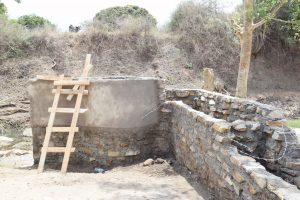 The Water Project:  Cement Drying On Well Walls