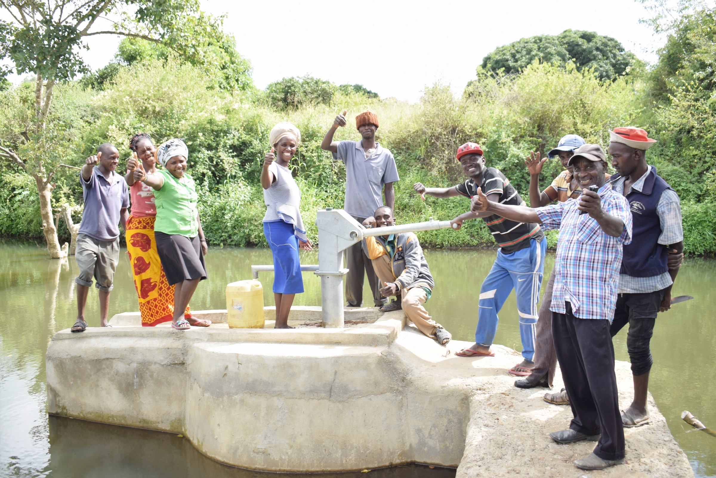 The Water Project : kenya20323-complete-shallow-well-8