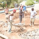 The Water Project: Mutwaathi Secondary School -  Dumping Rocks For Foundation