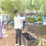 The Water Project: Mutwaathi Secondary School -  Handwashing Demonstration