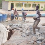 The Water Project: Mutwaathi Secondary School -  Hauling Rocks
