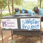 The Water Project: Mutwaathi Secondary School -  New Handwashing Stations
