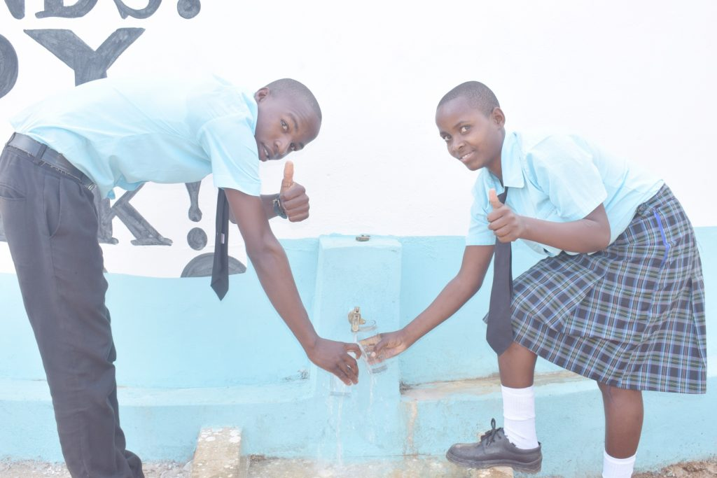 The Water Project : kenya20359-thumbs-up-2