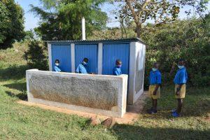 The Water Project:  Boys Newer Latrine Block