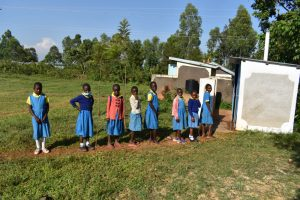 The Water Project:  Girls In Line For Latrines
