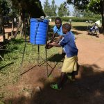 The Water Project: Ibokolo Primary School -  Handwashing Point