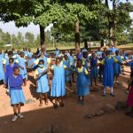 The Water Project: Ibokolo Primary School -  Students Spread Out At Morning Assembly