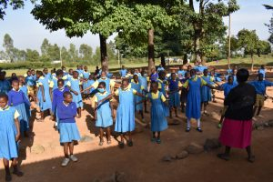 The Water Project:  Students Spread Out At Morning Assembly