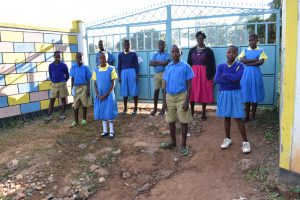 The Water Project:  Students And Teacher At School Gate