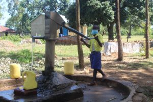 The Water Project:  Britton Fetching Water For School