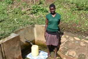 The Water Project:  Irene Fetches Water