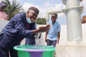 The Water Project:  Kamasondo Chiefdom Schools Supervisor Celebrates