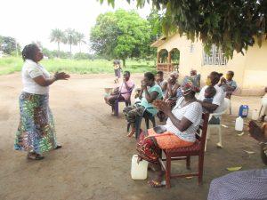 The Water Project:  Hygiene Facilitator Teaches Proper Handwashing