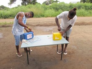 The Water Project:  Participants Constructing Tippy Taps