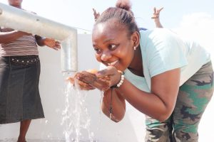The Water Project:  Woman Happy Drinking Clean And Safe Water
