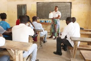 The Water Project:  Hygiene Facilitator Teaching About Tippy Tap And It Importance
