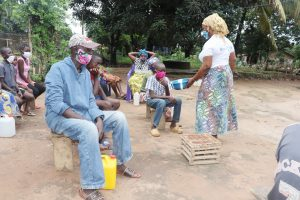 The Water Project:  Showing Dirty Water From Handwashing