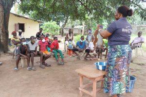 The Water Project:  Hygiene Facilitator Teaching About Diarrhea