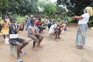 The Water Project:  Hygiene Facilitator Teaches Handwashing