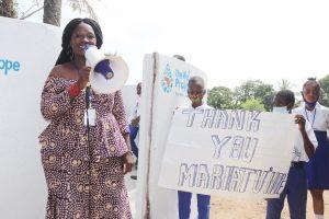 The Water Project:  Councilor Fatmata Akai Making Statement