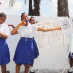 The Water Project: Lungi, Tintafor, St. Augustine Senior Secondary School -  Students Celebrating Safe Drinking Water