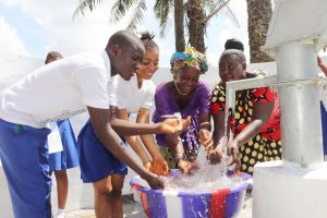 The Water Project:  Teachers And Students Splashing Water