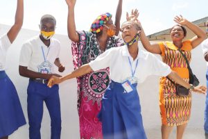 The Water Project:  Students Teachers And Market Women Celebrate The Well