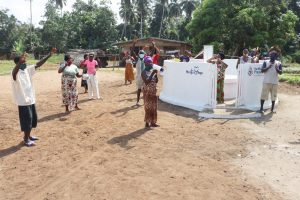 The Water Project:  Community Members Celebrating At The Well