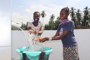 The Water Project:  Community Members Celebrating And Splashing Clean And Safe Drinking Water