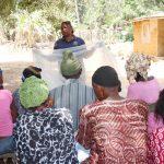 The Water Project: Lokomasama, Conteya Village -  Teaching Mosquito Net Importance And Repair