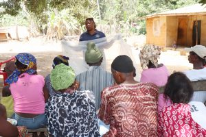 The Water Project:  Teaching Mosquito Net Importance And Repair