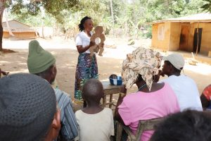 The Water Project:  Hygiene Facilitator Teaches About Diarrhea