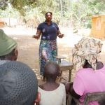 The Water Project: Lokomasama, Conteya Village -  Facilitator Teaches Importance Of A Balanced Diet