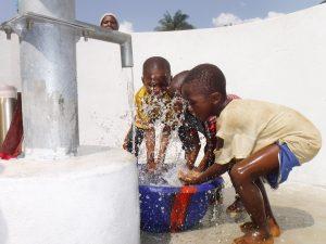 The Water Project:  Kids Splashing Clean Water