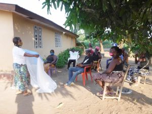 The Water Project:  Teaching Mosquito Net Importance And Use